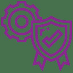Piktogramm Qualitätskontrolle lila - Ekkehard Franz Kunststofftechnik GmbH seit 1946 zuständig deutschlandweit und in Europa